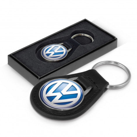 Baron Leather Key Ring - Round
