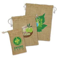 Jute Drawstring Pouch - Small