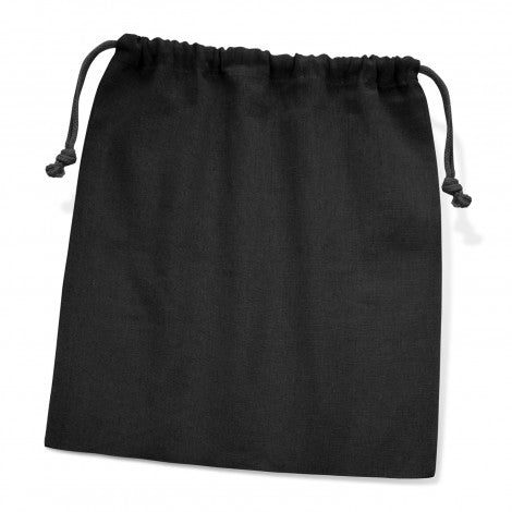 Calico/Cotton Drawstring Pouch- Large