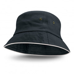 Bondi Bucket Hat - White Sandwich Trim