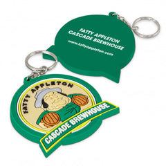 PVC Key Ring Large - One Side Moulded