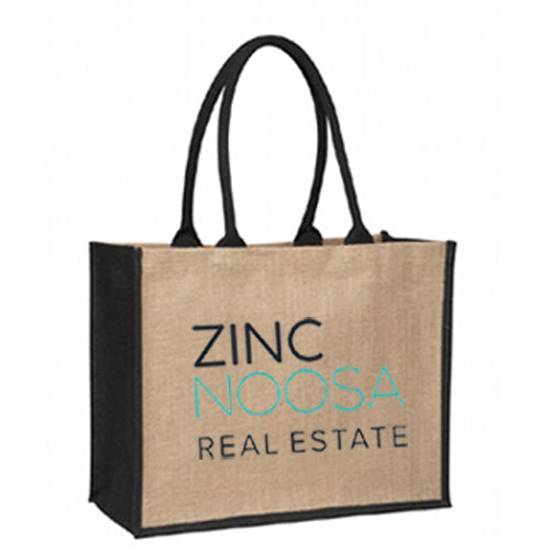 Laminated Jute Supermarket Bag - Black