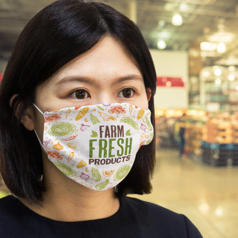 Reusable Face Mask Full Colour - Large