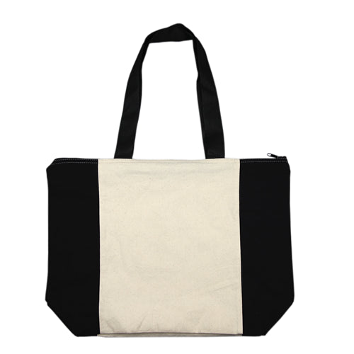 Calico/Cotton Shopper With Zip Closure