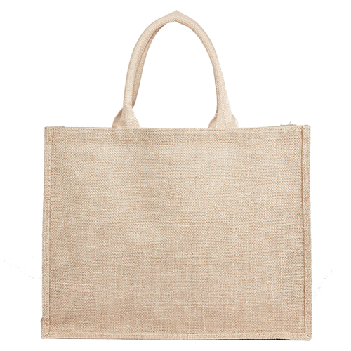 Jute Hessian Shopping Bag - Natural