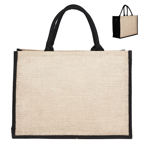 Jute Hessian Shopping Bag - Colored