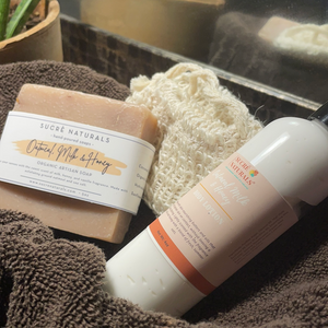 Milk & Honey Bath Set