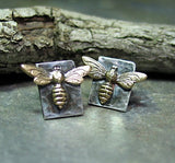 Sterling Silver Stud Earrings - Bee My Honey