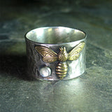 Sterling Silver Bee Ring Bee My Honey Series - Bee's Treasure