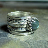 Labradorite stacking ring set - Castle Keep