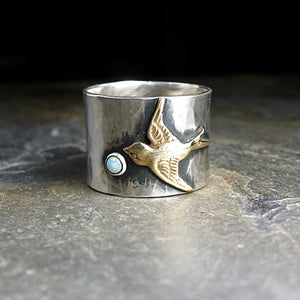 Sterling Silver Bird Ring - Dream Chaser