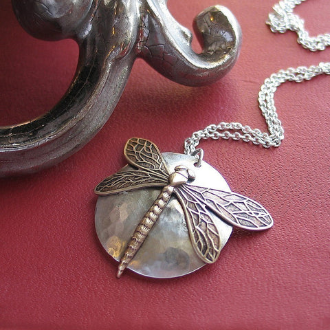 Sterling Silver Dragonfly Pendant with Iolite - The Dragonfly's Secret