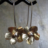 Handmade Brass Flower Earrings - Goldenflower