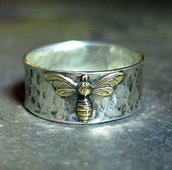 Sterling Silver Honeybee Ring - Bee My Honey