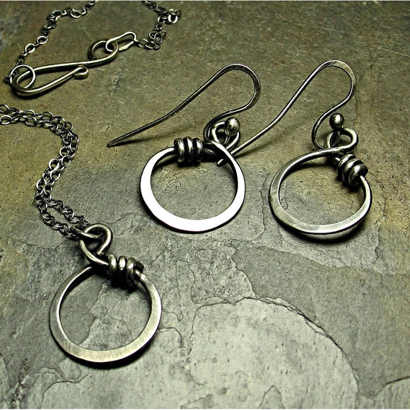 Hoop Dangle Earrings - Little Wrapped Ohs