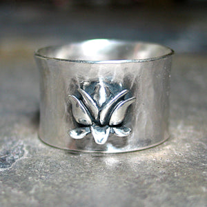Size 8.5 Lotus Ring in Sterling Silver -The Silver Lotus