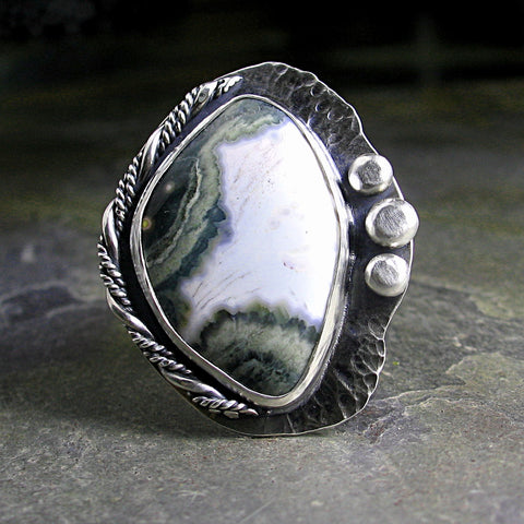Kambaby Ocean Jasper Ring - Edge of the Storm