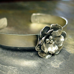 Sterling Silver Cuff - Old World Rose