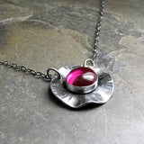 Sterling Silver Lab-created Ruby Necklace - Poppy Fields