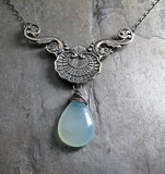 Aqua Chalcedony Pendant - Sea Breeze