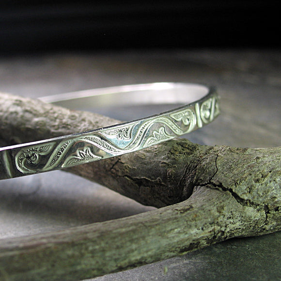 Sterling Silver Bangle - Silver Elegance