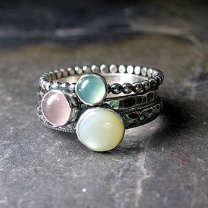 Spring Pastel Stacking Ring Set of 3 - Spun Sugar