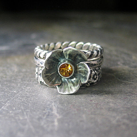 Summer Meadow Stacking Rings
