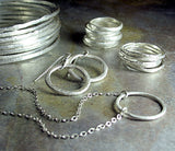 Fine Silver Stackable Rings - Summerlight