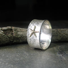 Sterling Silver Starfish Ring  - Tidepool Starfish