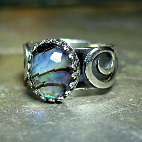 Abalone Shell Ring - Treasures of Atlantis - SOLD