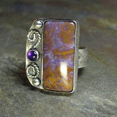 Amethyst in Maury Mountain Agate Ring -  Sold