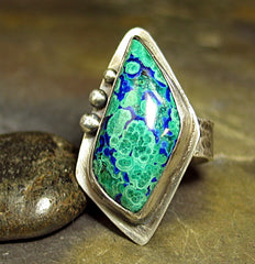 EarthSong Azurite Malachite Ring - Sold