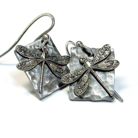 Sterling Silver Dragonfly Earrings - Enchanted Dragonfly
