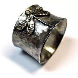 Size 9.5 Sterling Silver Dragonfly Ring - Enchanted Dragonfly
