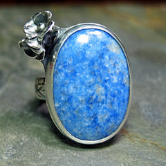 Bluebell - Denim Lapis and Sterling silver artisan ring