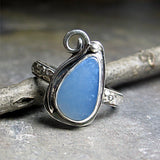 Owyhee Blue Opal Ring in Sterling Silver - La Petit Bleu