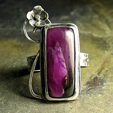 Sterling Silver and Sugilite Ring - Plumflower - Sold