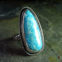 Sterling Silver and Turquoise Artisan Ring - Sonoran Sky