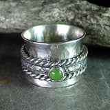 Sterling Silver Meditation Ring with Choice of Stone - Spring Meadow