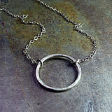 Rustic Silver Circle Pendant - Summerlight Skinny Oh