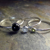 Sterling Silver Stacking Rings - Sun, Moon and Stars