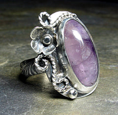Amethyst Bloom Artisan Ring