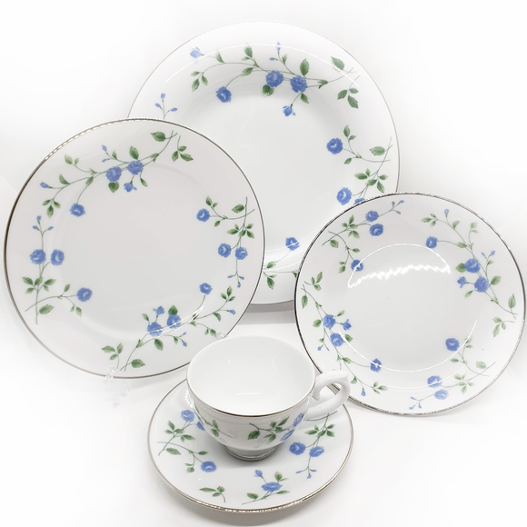 Dankotuwa Blue Rose - 20pcs Dinner Set