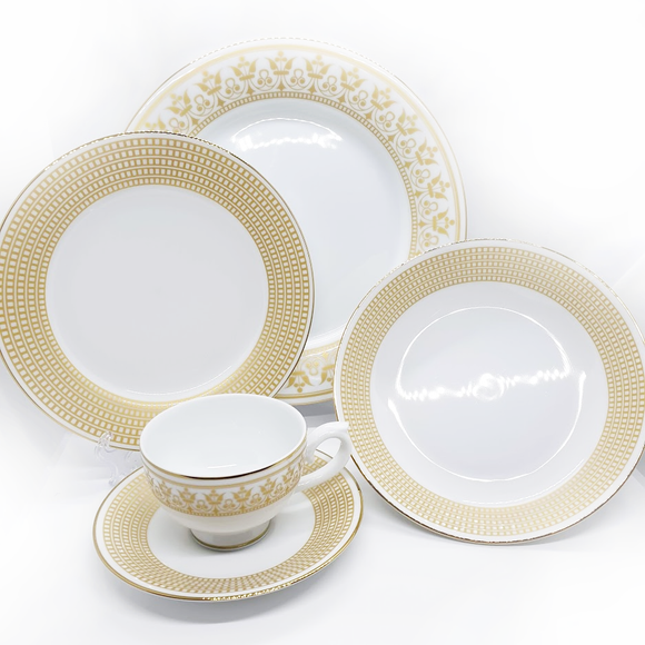 Dankotuwa Dilini Gold 20pcs Dinner Set