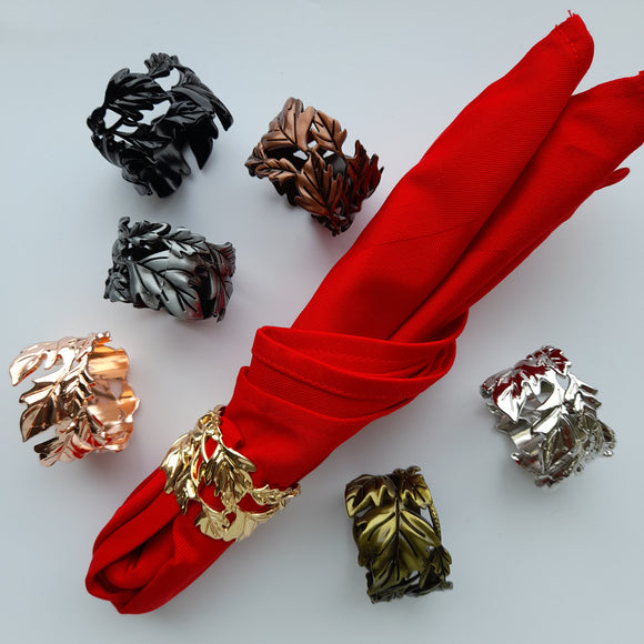 Royalclub Leaf Napkin Ring set of 6