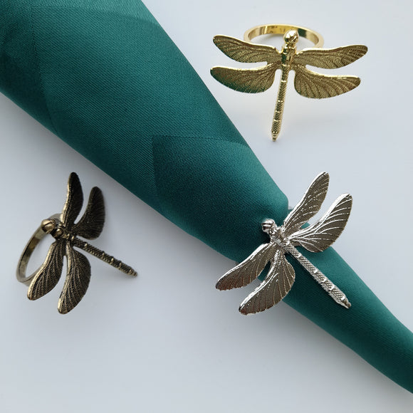 Royalclub Dragonfly Napkin Ring set of 6