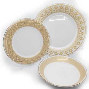 Dankotuwa Dilini Gold 12pcs Dinner Set