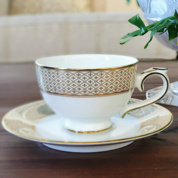 Dankotuwa Jewel Cream 08 pcs Cup & Saucer Set