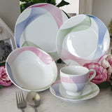 ROYAL FERNWOOD PORCELAIN 3 COL Decal 12pcs Dinner Set