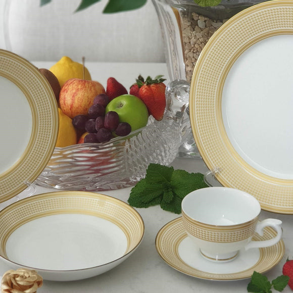 Dankotuwa Menuna Gold 20pcs Dinner Set